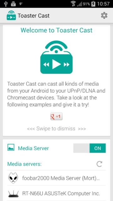Toaster Cast DLNA UPnP Player screenshot 1