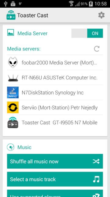 Toaster Cast DLNA UPnP Player screenshot 6