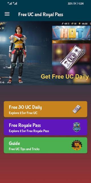 Free UC and Royal Pass screenshot 1