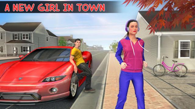 Virtual Neighbor Girl : Family Home Games screenshot 1