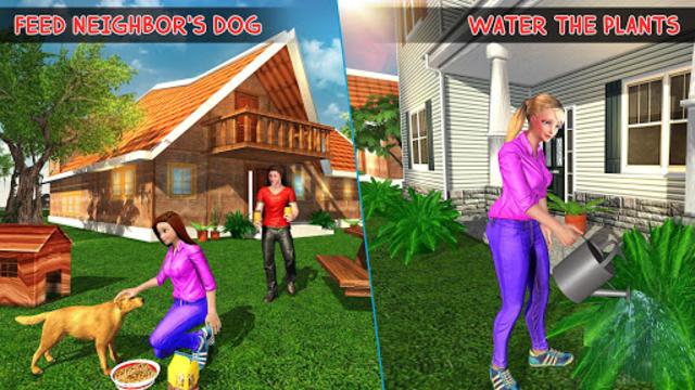 Virtual Neighbor Girl : Family Home Games screenshot 3
