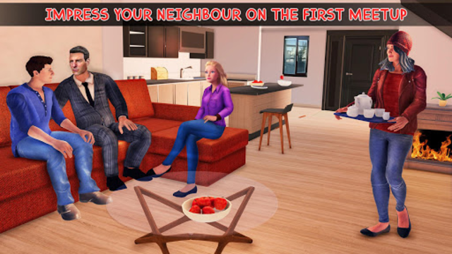 Virtual Neighbor Girl : Family Home Games screenshot 4