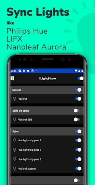 iLightShow for Philips Hue / LIFX / Nanoleaf screenshot 1