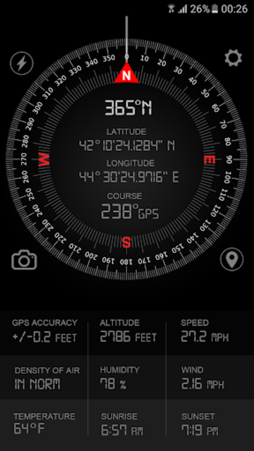 Compass GPS Pro  Military Compass with camera screenshot 2