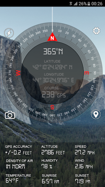 Compass GPS Pro  Military Compass with camera screenshot 3