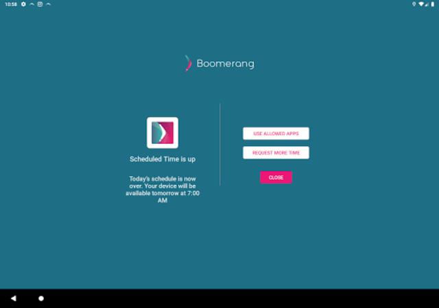 Boomerang Parental Control - Screen Time app screenshot 10