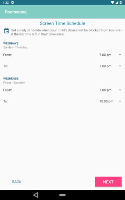 Boomerang Parental Control - Screen Time app screenshot 15