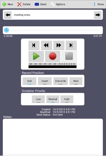 Express Dictate Professional screenshot 1
