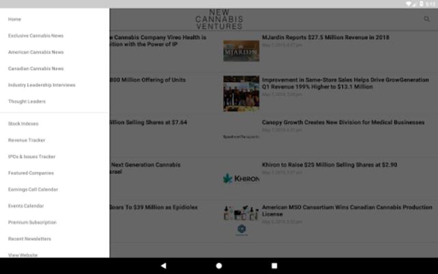 New Cannabis Ventures screenshot 11