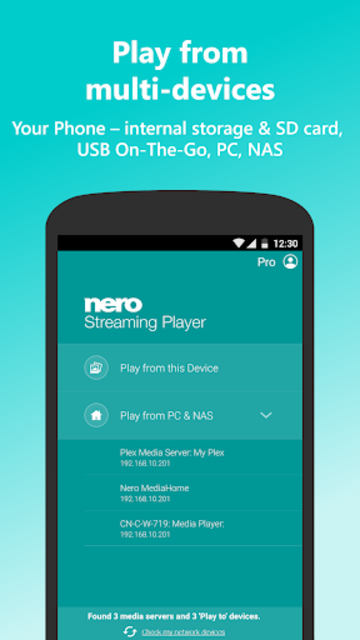 Nero Streaming Player Pro | Connect phone to TV screenshot 2