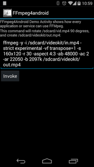 FFmpeg 4 Android screenshot 2