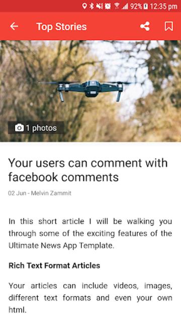 Ultimate News App Template screenshot 2