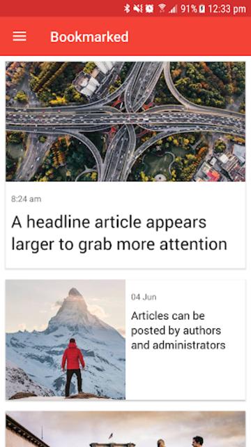 Ultimate News App Template screenshot 5