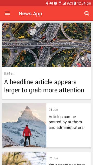 Ultimate News App Template screenshot 7