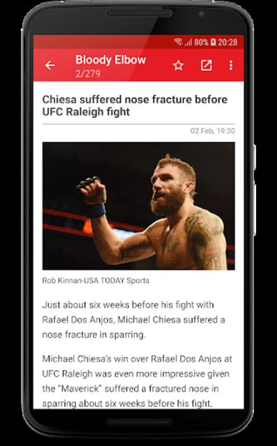 MMA News Pro screenshot 4