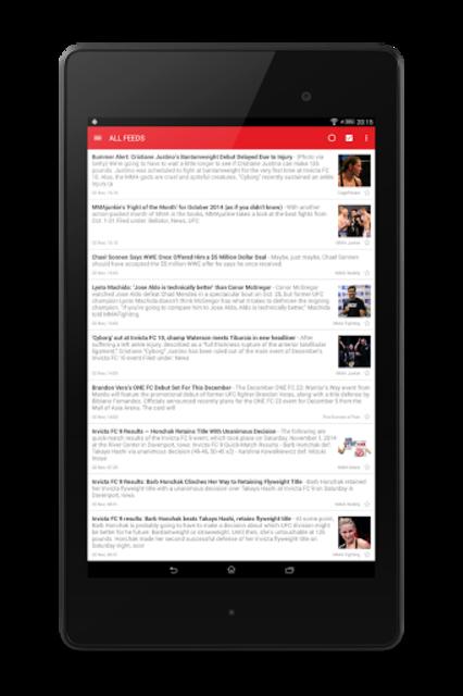 MMA News Pro screenshot 12