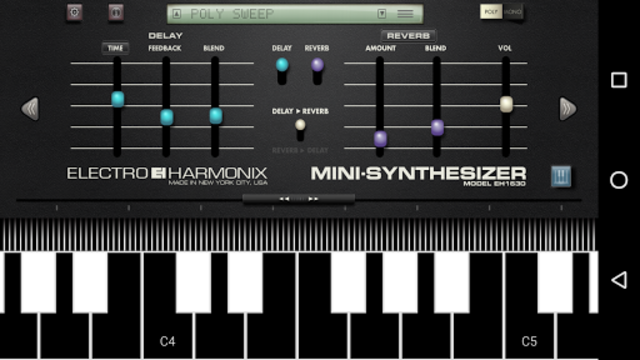 Mini Synthesizer for Phone screenshot 1
