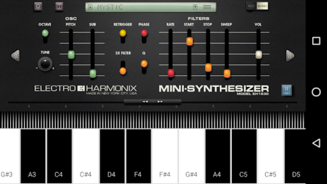 Mini Synthesizer for Phone screenshot 2