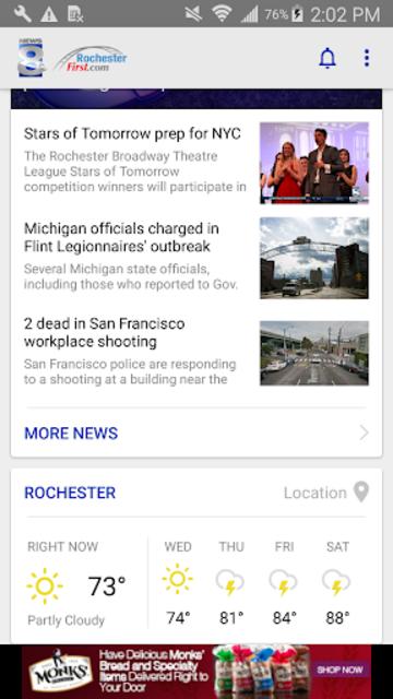 WROC News 8 RochesterFirst screenshot 1