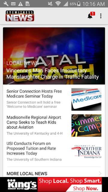 Tristate on the Go - WEHT WTVW screenshot 1