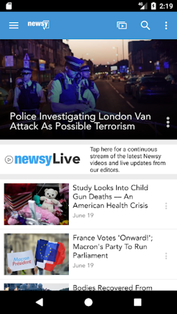 Newsy screenshot 1