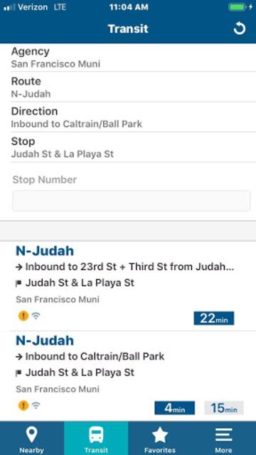 NextBus screenshot 5