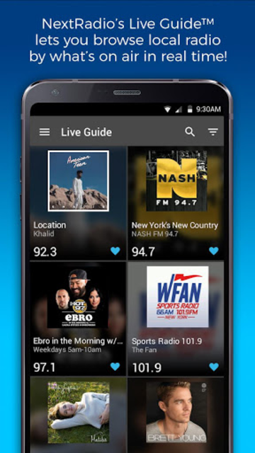 NextRadio Free Live FM Radio screenshot 1