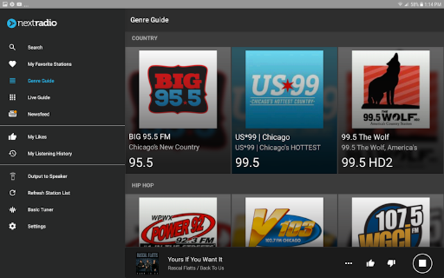 NextRadio Free Live FM Radio screenshot 15