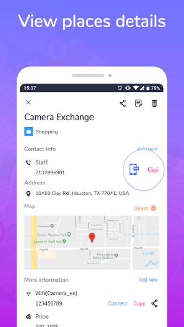 Places Map - Save & Share favorite places screenshot 5