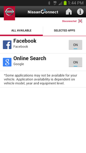 NissanConnect screenshot 3