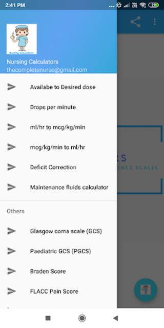 Nursing Calculator Pro (Ad free) screenshot 1
