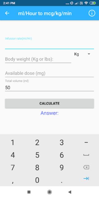 Nursing Calculator Pro (Ad free) screenshot 2