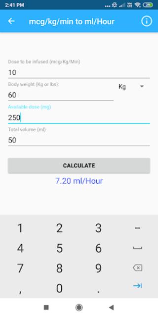 Nursing Calculator Pro (Ad free) screenshot 3