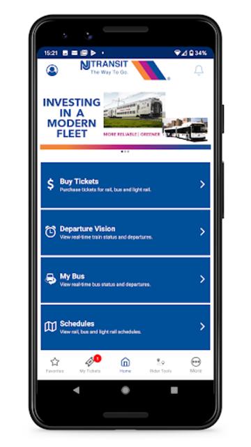 NJ TRANSIT Mobile App screenshot 1