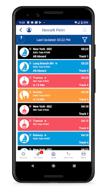 NJ TRANSIT Mobile App screenshot 4