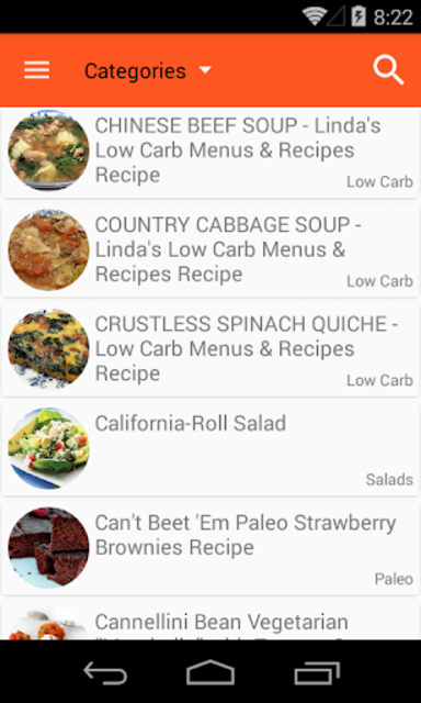 Healthy Recipes No-Ads screenshot 1