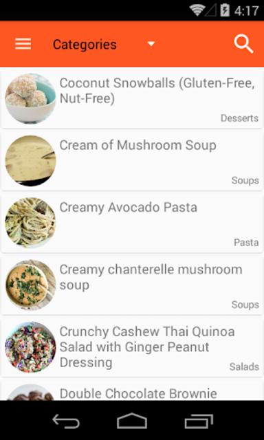 Vegan Recipes No-Ads screenshot 1