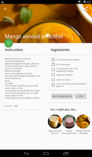 Vegan Recipes No-Ads screenshot 6