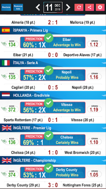 Tips Predictions-Football LITE screenshot 2