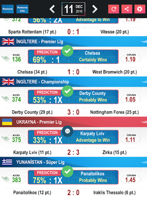 Tips Predictions-Football LITE screenshot 12