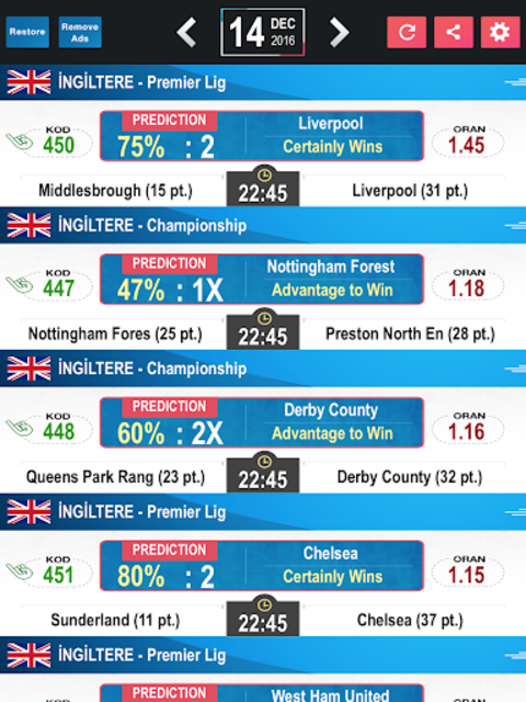 Tips Predictions-Football LITE screenshot 14