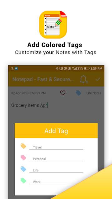 Notepad - Fast & Secure Notepad Application screenshot 4