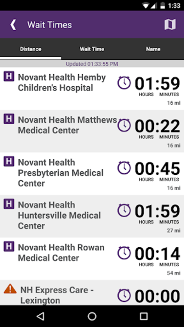 Novant Health screenshot 2