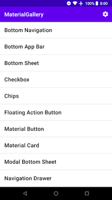 Material Components Gallery screenshot 1