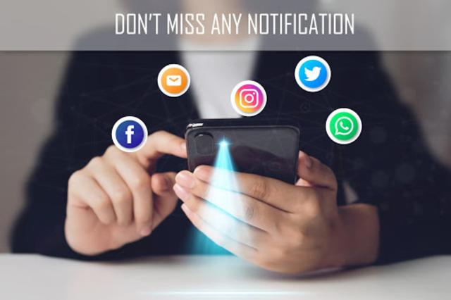 Flash alert for all notification -Sms alert flash screenshot 1