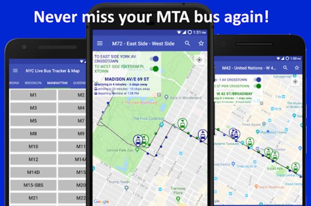 NYC Live Bus Tracker & Map screenshot 1