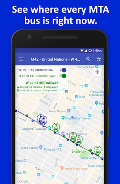 NYC Live Bus Tracker & Map screenshot 2