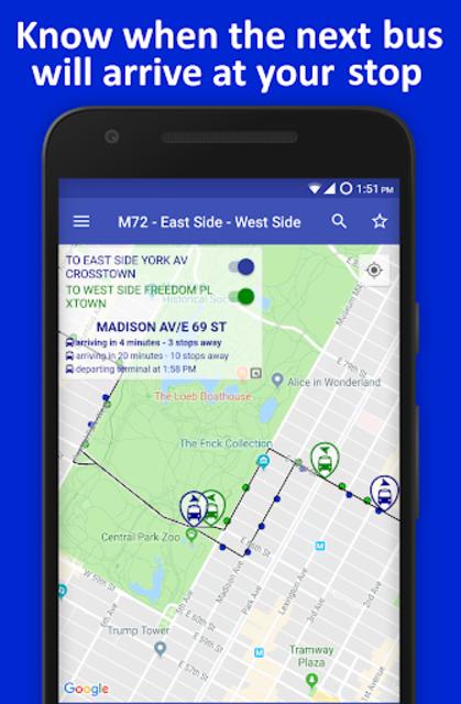 NYC Live Bus Tracker & Map screenshot 3
