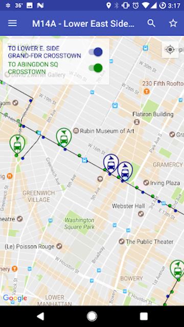 NYC Live Bus Tracker & Map screenshot 7