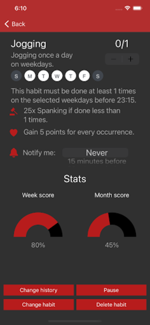 Obedience: BDSM habit tracker app for couples screenshot 4
